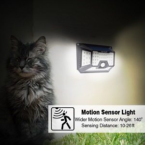 solar lights for home outdoor wall garden  waterproof led motion sensor hardoll security lights