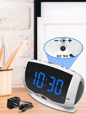 plug in clock radio battery backup