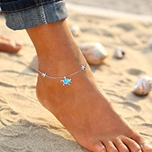 astarfish anklets for women sterling silver