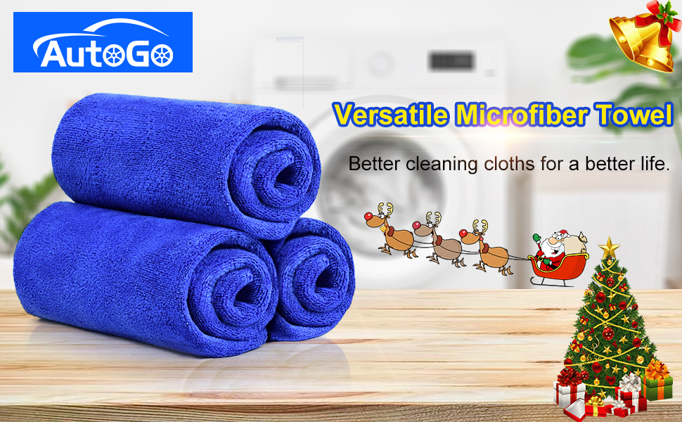 6、microfiber cleaning cloth pack of 3 logo