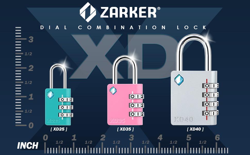 ZARKER XD Serisi Şifreli kilitler Boyut Karşılaştırma