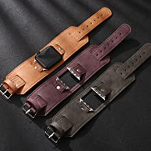 wide leather band