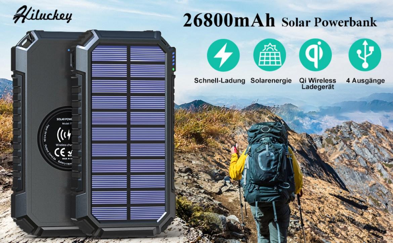 solar powerbank 26800mah