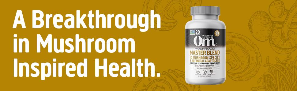 Om, Mushroom, Master Blend, Health