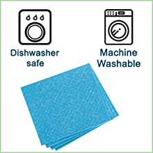 Cleaning cloth is dishwasher and machine safe