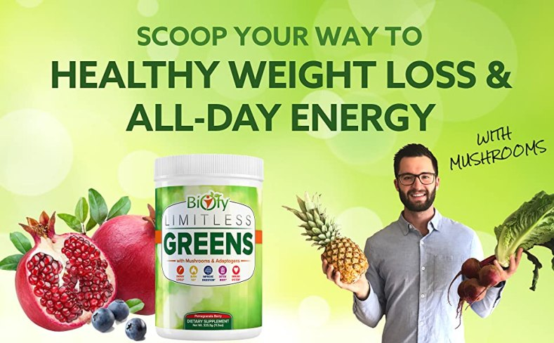 green juice powder supplement veggie energy mushroom spirulina chlorella detox organic superfood