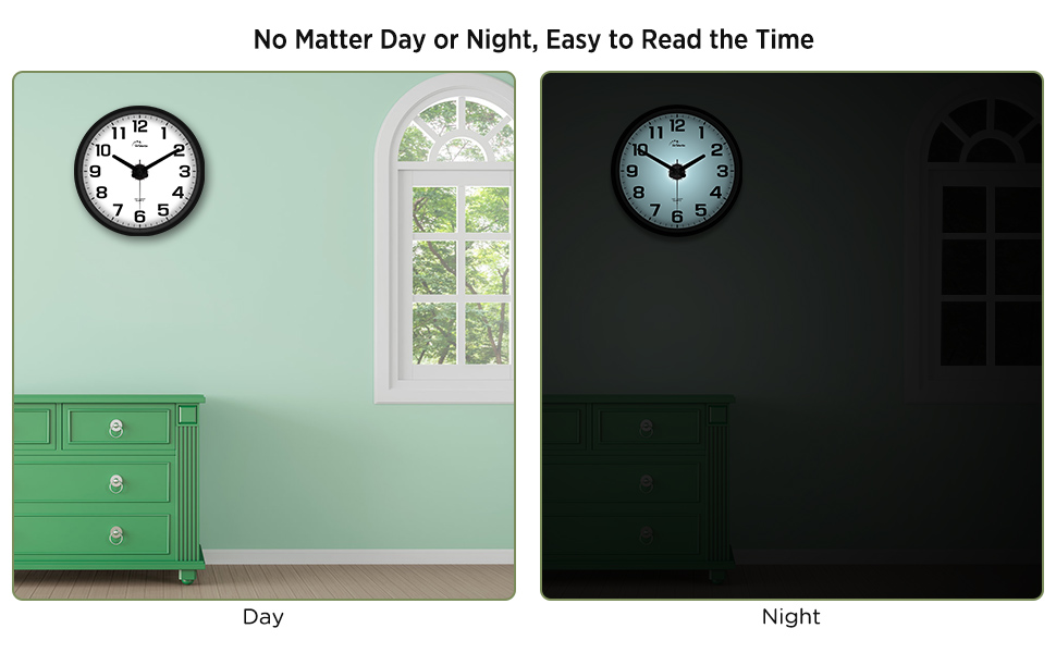 large digital display wall clock
