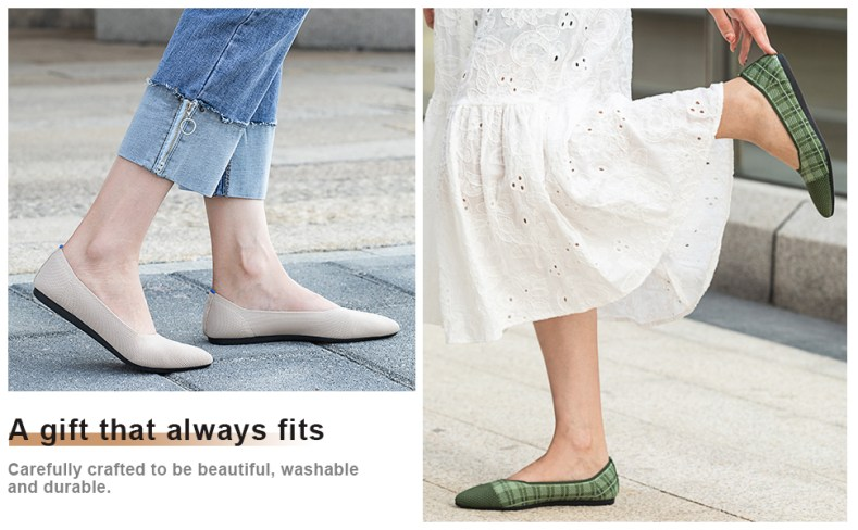 Flat Shoes for Women Classic Pointed Toe Slip On Ballet Shoes