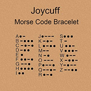 Joycuff morse code bracelet