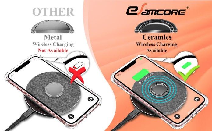 Wireless charging ring holder