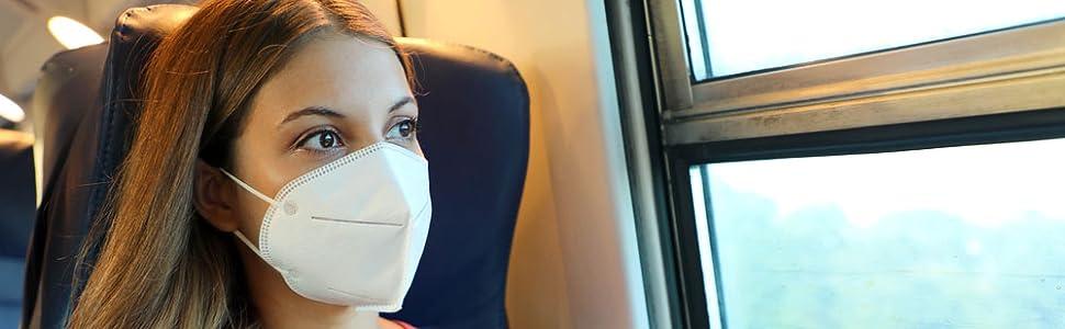 Reise ohne Sorge mit einer echten FFP2 Maske
