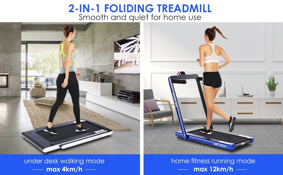 2 in 1 folding exercise bike