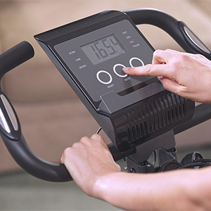 Digital display of Slim Cycle exercise bike