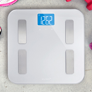 Digital Body Fat Weight Scale by GreaterGoods, Accurate Health Metrics, Body Composition (Silver)