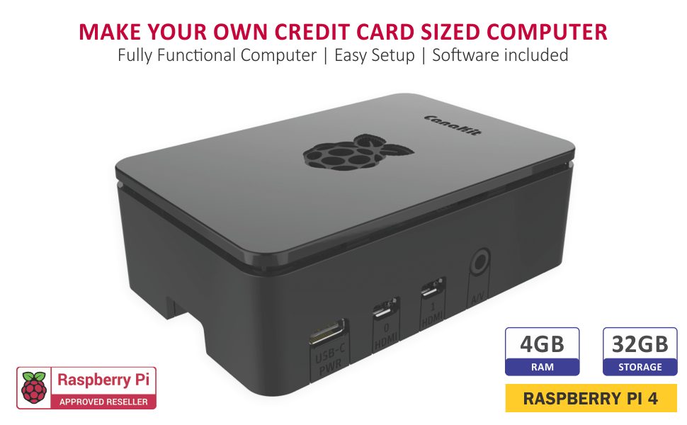 CanaKit Raspberry Pi 4 4GB Starter Kit