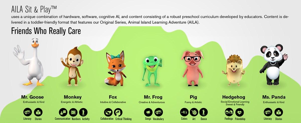 AILA Sit & Play learning adventure Homeschool Preschool Education Artificial Intelligence
