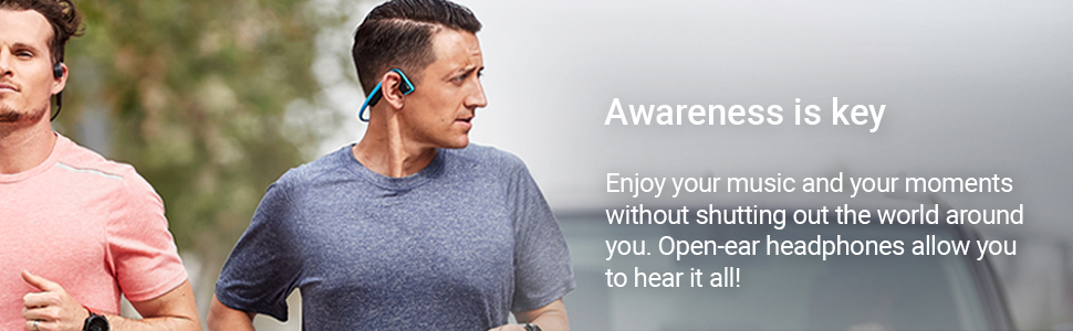 Enjoy your music and your moments with open-ear headphones that allow you to hear it all!