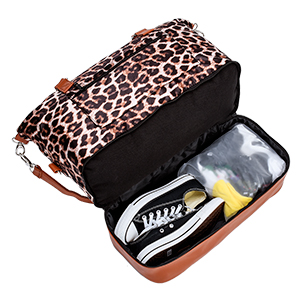duffle bag with shoes compartment