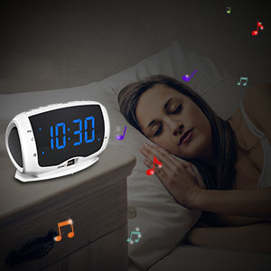Bedside clock radios with sleep timer