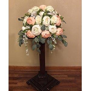 faux peonies flower for wreath diy