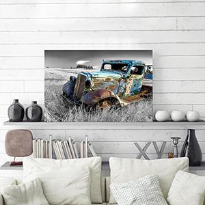 rustic car art