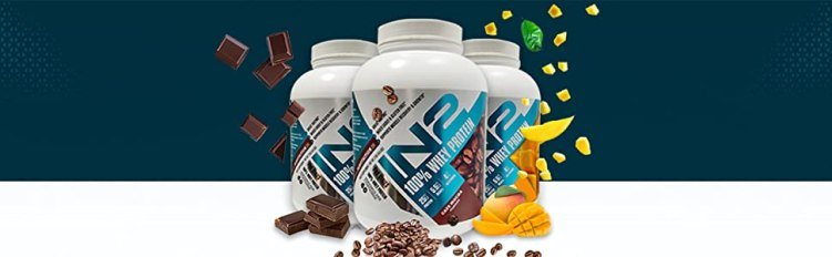 in2 100% whey Protein rich chocolate, 100% in2 whey protein mango, in2 protein cafe mocha, coffee,