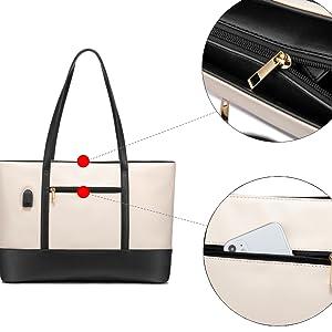 laptop bag backside pocket