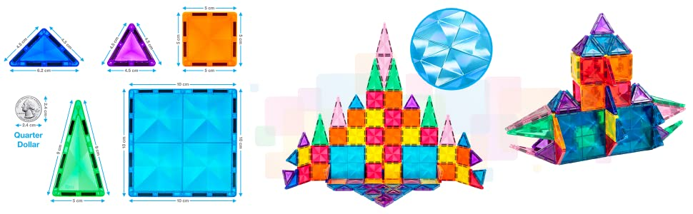 blocks magneticos magnets shapes tile triangles magna toys toddlers set