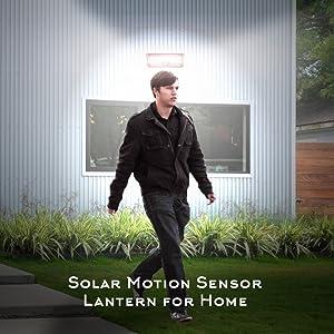 solar lights for home outdoor garden  waterproof led motion sensor hardoll security lighting