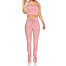 stacked pants outfits for women