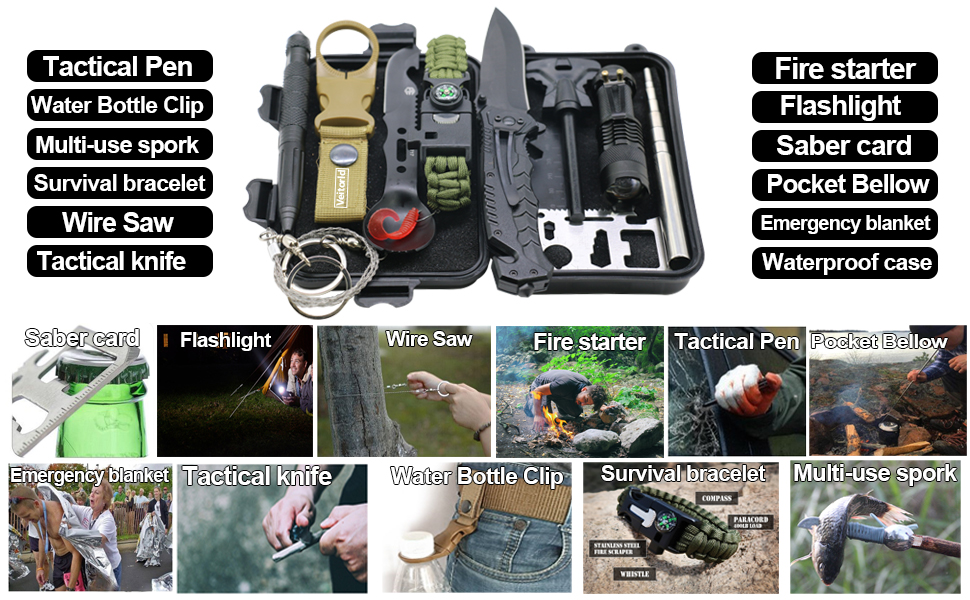 survival gear kit