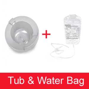 Sitz Bath Tub and Water Bag