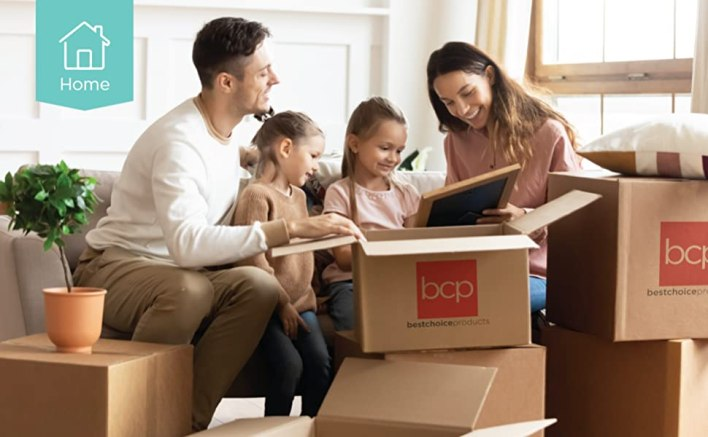 happy family opening best choice products box