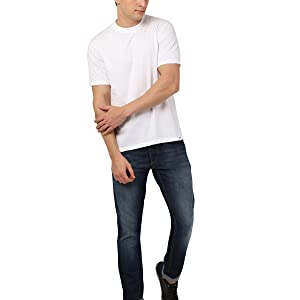 plain solid white colour round neck tee shirt for man and boys