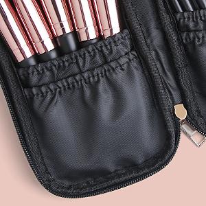 makeup brush set with case