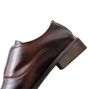 brown leather oxfords for women