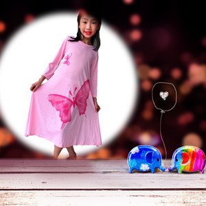 pink simple comfortable dress