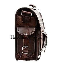 shoulder leather messenger bag laptop for men