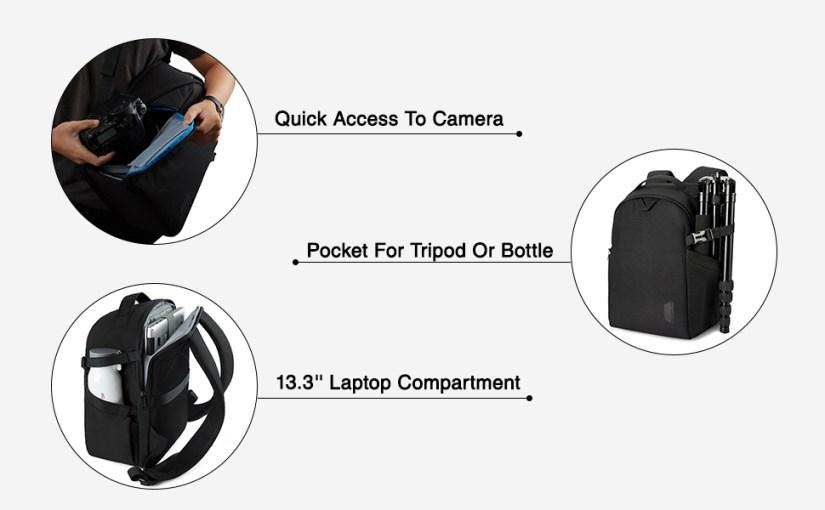 camera small backpack