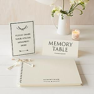 ivory condolence book, book of condolence, funeral guest book