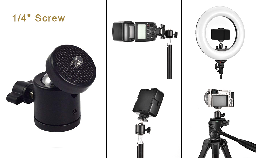table top tripod for mobile phone and camera with 360 degree rotation neck pan and tilt ball head
