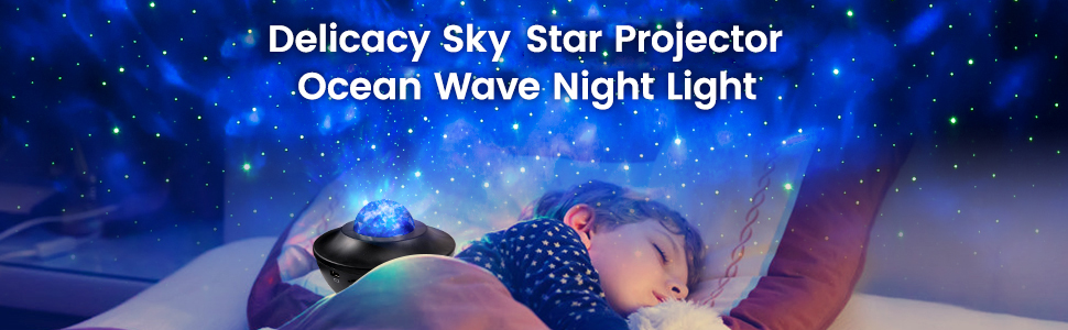 Sky Star Projector Ocean Wave Night Light Projector