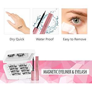 Three 3D Pair of Magnetic Eyelashes