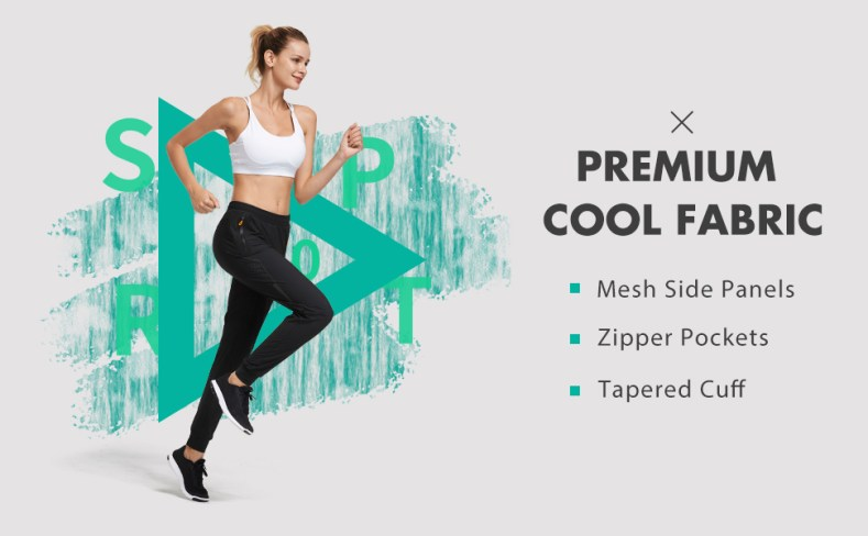 women athletic active pants lightweight joggers