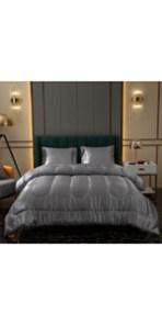 Grey Satin Comforter Set