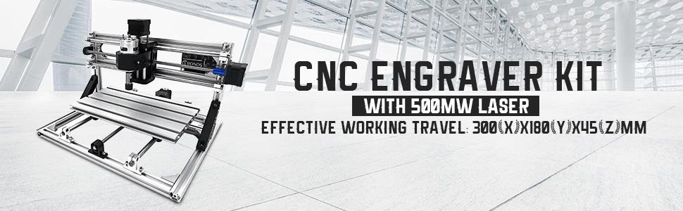 CNC 3018 barkácsológép 500mw lézerrel