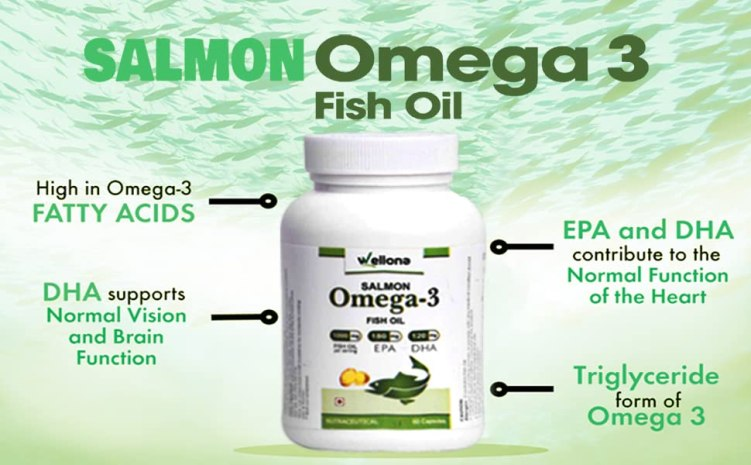 salmon fish oil omega 3 capsule 1000mg