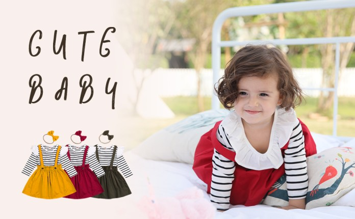 Girls Outfits 3pcs Baby T-Shirt Clothes Set