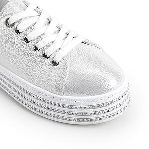 white fashion sneakers