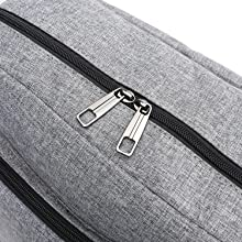 Dual Metal Zippers